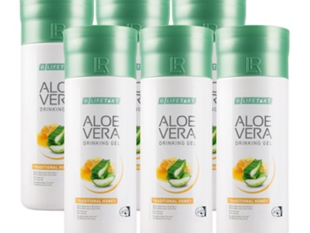 LR LIFETAKT Aloe Vera Drinking Gel Traditional s medem Série 6 ks